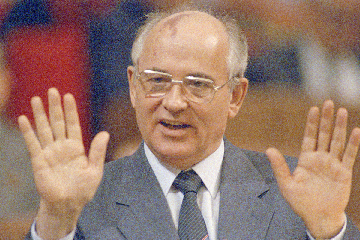 Mikhail Gorbachev, the last leader of the USSR, 1990.