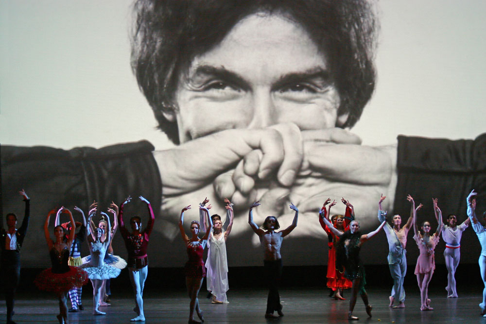 Dancers seen at the stage during the gala concert marking the closing of the 24th International Rudolf Nureyev Classical Ballet Festival