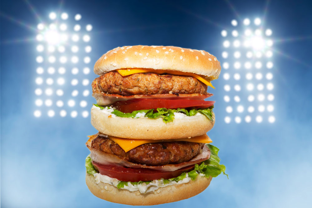 Take a break from the game with a tasty burger right at the stadium!