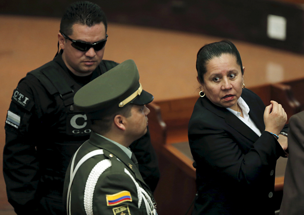 Maria del Pilar Hurtado was sentenced to 14 years in prison on charges of illegally intercepting phone calls from opposition Colombian lawmakers. Source: Reuters