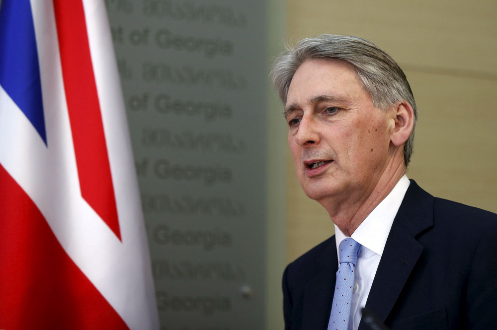 Britain's Foreign Secretary Philip Hammondю