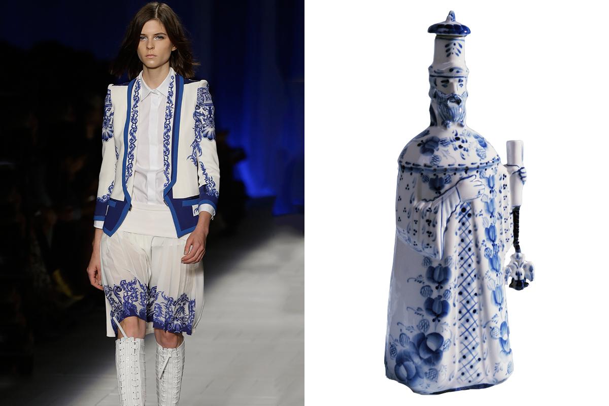 "Just Cavalli women's Fall-Winter 2012-2013 collection; Porcelain shtof ""Ambassador""."