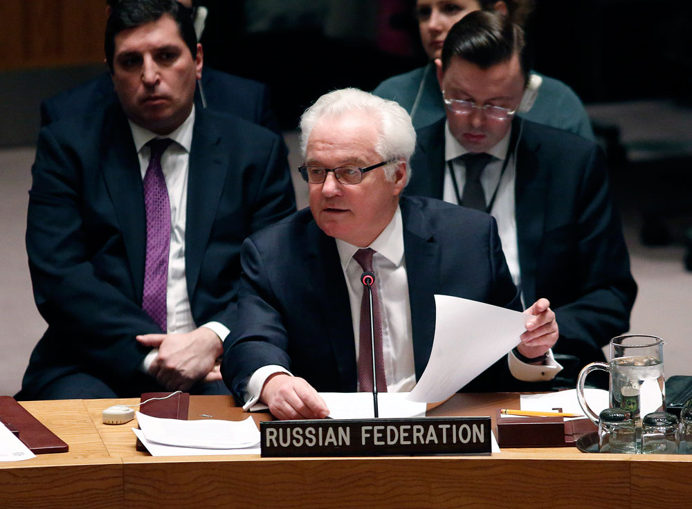 Russian ambassador to UN, Vitaly Churkin.