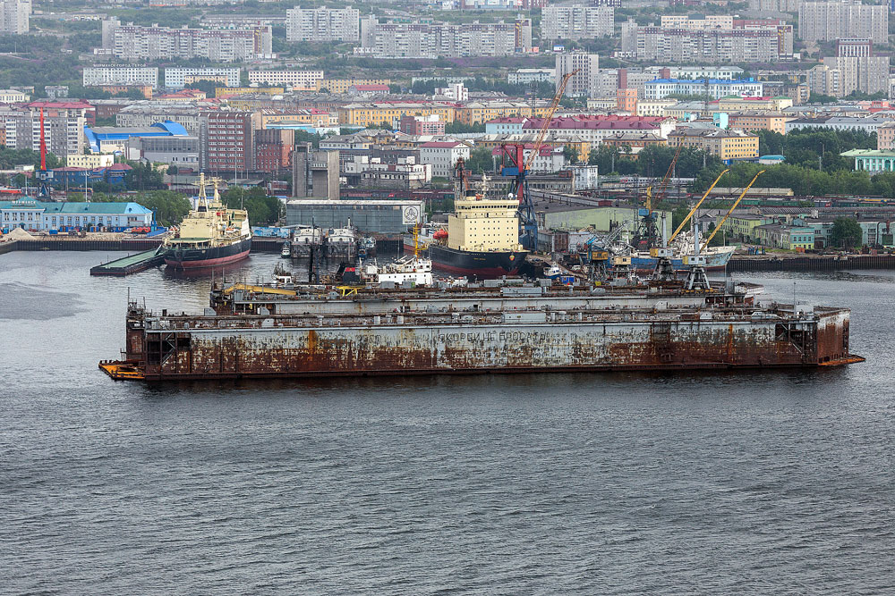 The town of Severomorsk, the base of the Russian navy's Northern Fleet.