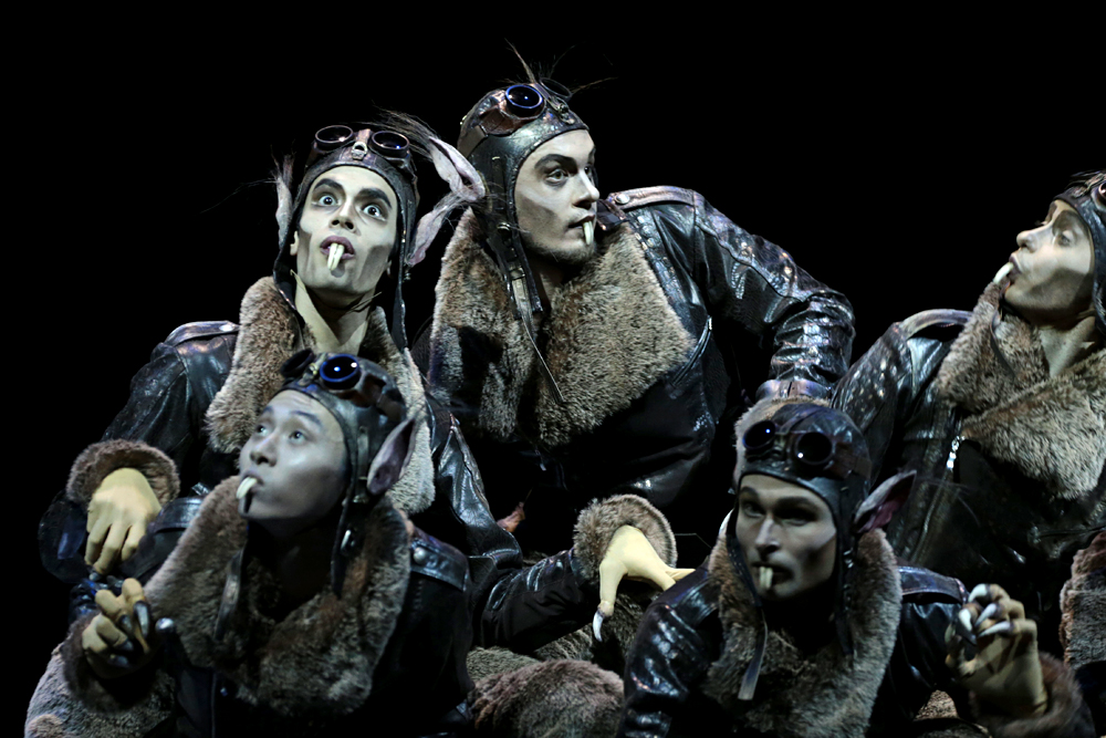 A scene from The Nutcracker at the Mikhailovsky Theater.\n