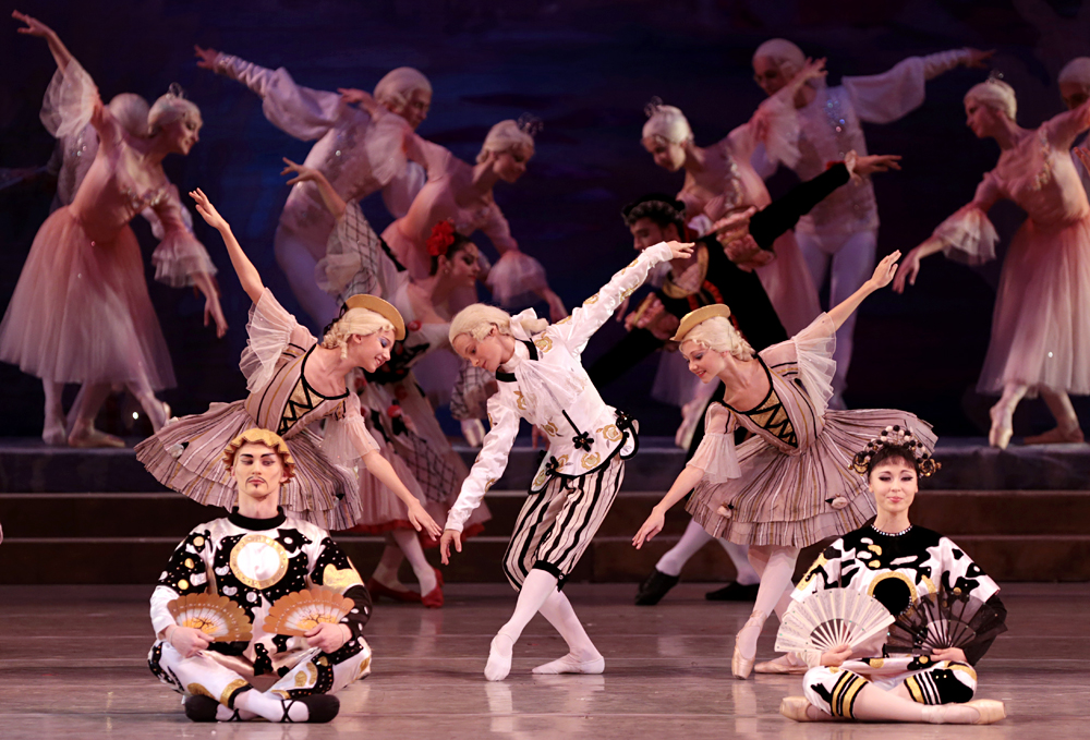 Students of the Vaganova Ballet Academy perform The Nutcracker at St. Petersburg's Mariinsky Theater.\n