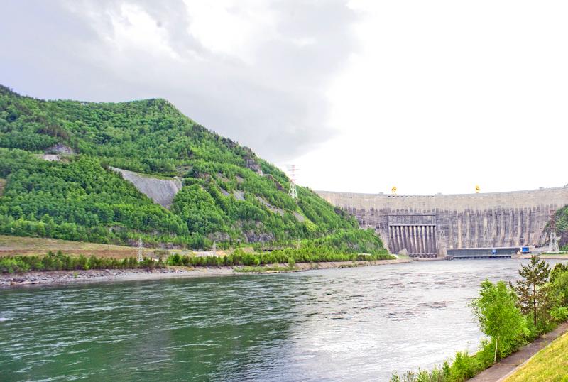 The Sayano-Shushenskaya Dam.