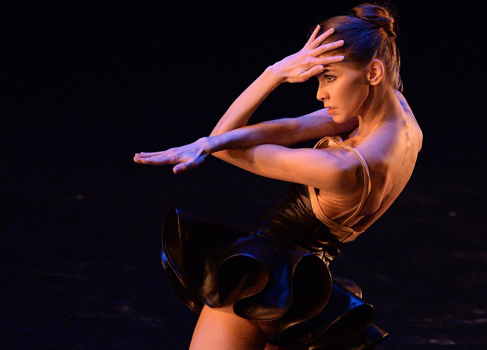 "Scene from the one-act ballet ""Cinque"" (performer: Ekaterina Krysanova) at the Stanislavsky and Nemirovich-Danchenko Theater jubilee performance dedicated to the Ardani Artists Company's 25th anniversary."