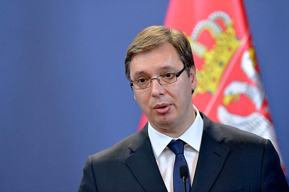 Presiden Serbia Aleksandar Vucic.
