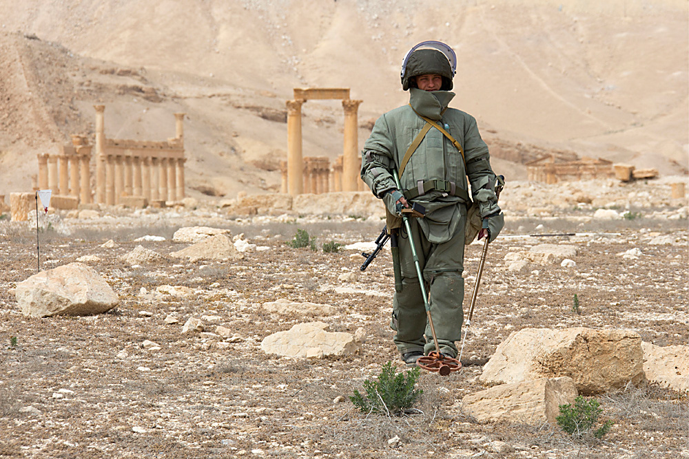 The operation to liberate Palmyra began in mid-March. On March 27, Syrian troops with the support of the Russian Air Force liberated Palmyra from Islamic State militants, who captured the city in May 2015.