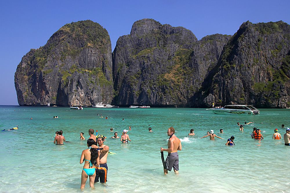 Tourists in Thailand.