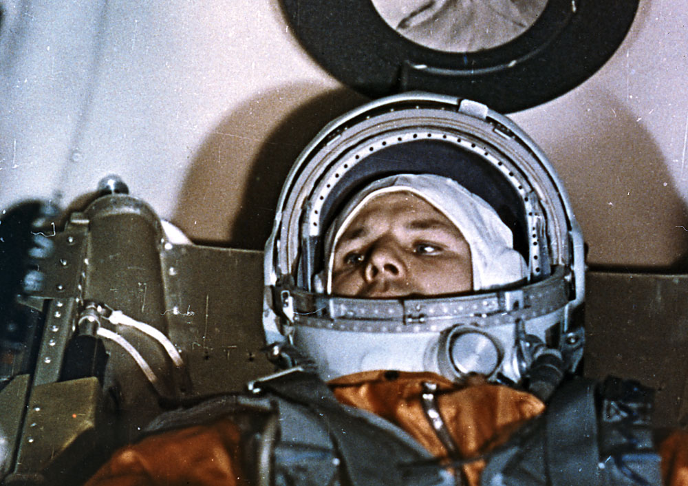 Yuri Gagarin's flight in April 1961 was one of the USSR's first major achievements in space.