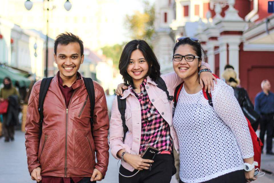 Indonesian students in Moscow. The author standing on the extreme right.