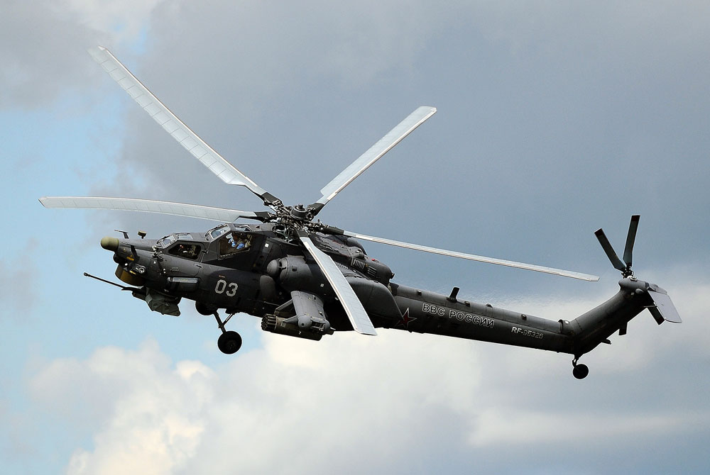 Mil Mi-28N Night Hunter helicopter.