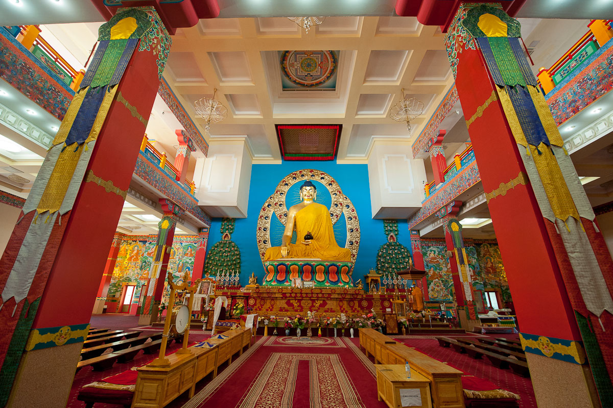 The heart of this temple is an 8-meter tall golden Buddha statue – the largest in Europe.
