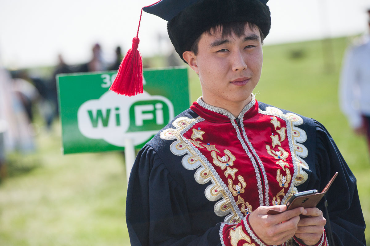 Even the oldest traditions come in tandem with modern technologies. There is Wi-Fi for festival visitors in the middle of the steppe.