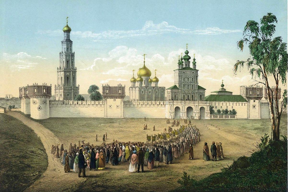 Das Nowodewitschi-Kloster. Während die Umgebung um das Kloster heute sehr modern ist, wurde das Kloster selbst restauriert und für Besucher geöffnet.