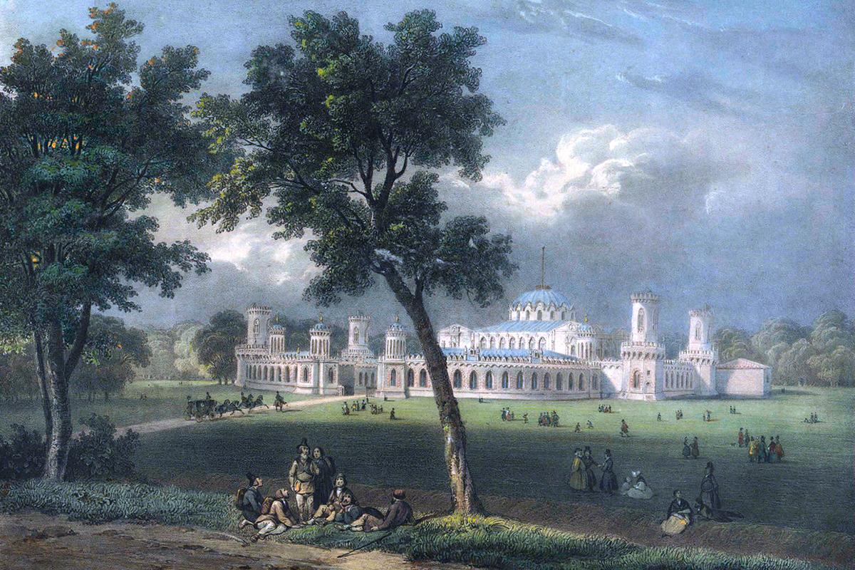 Petrovkjy Palast: Der Palast liegt heute innerhalb Moskaus, befand sich im 18. Jahrhundert jedoch noch außerhalb der Stadtgrenzen. Er wurde von 1775 bis 1782 für Katharina die Große errichtet und war als Übernachtungsort für königliche Reisen von St. Petersburg nach Moskau gedacht.