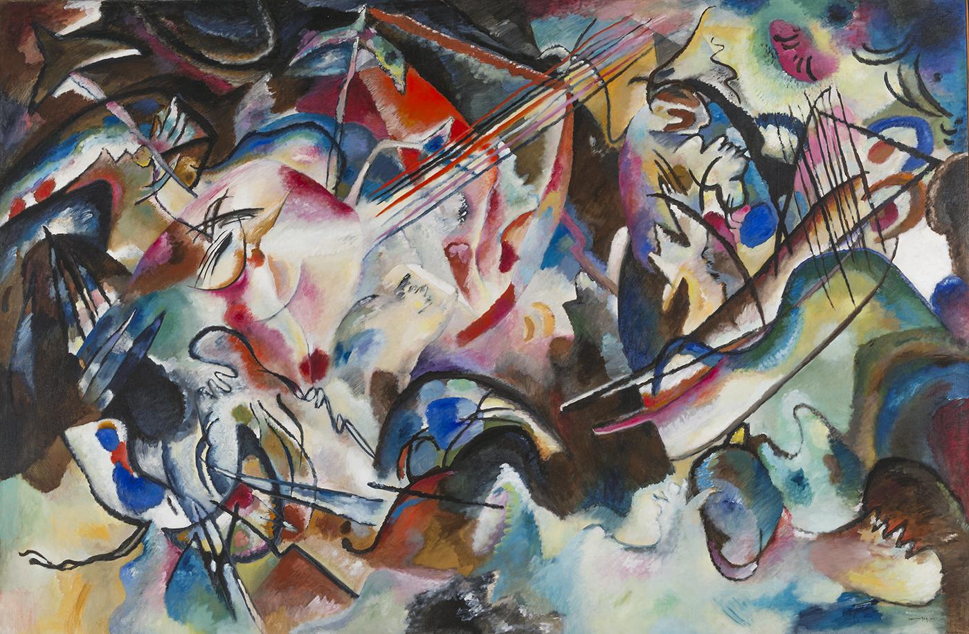 ワシリー・カンディンスキー。エルミタージュ美術館所蔵の傑作「構成6」=