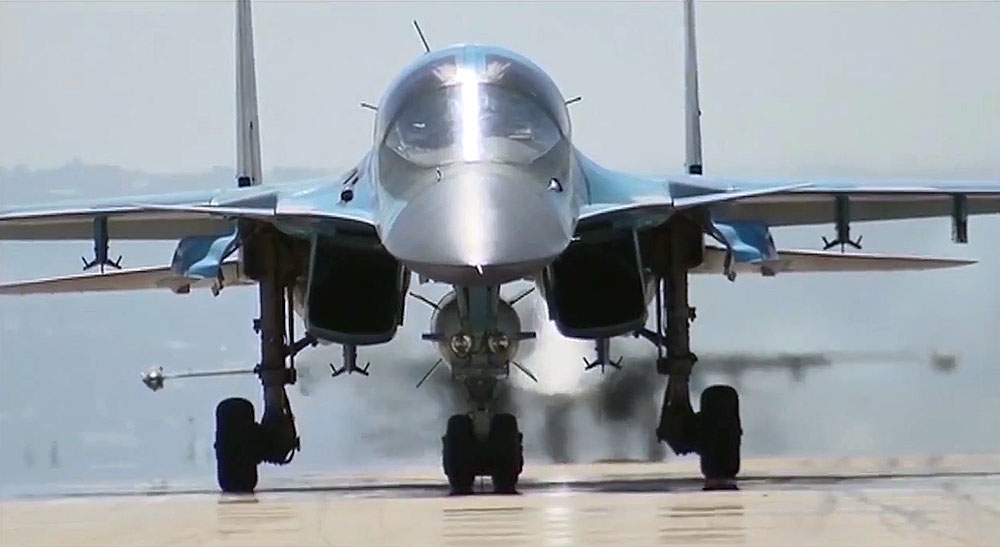 The first group of Russian aircraft from the Hmeimim Airbase departs for home bases in Russia