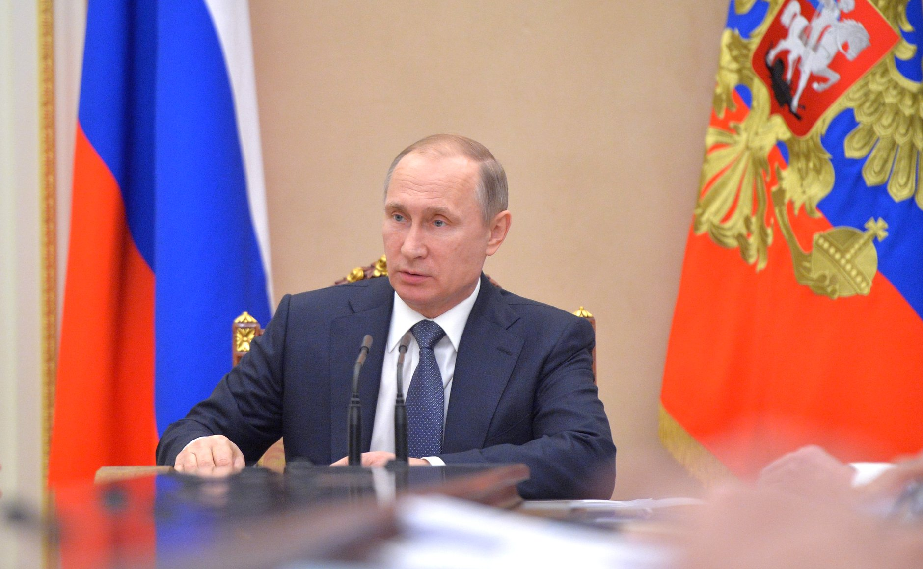 """Russian President Vladimir Putin: """"We need to beef up the analytical potential and the level of technical equipment of the border network."""""""