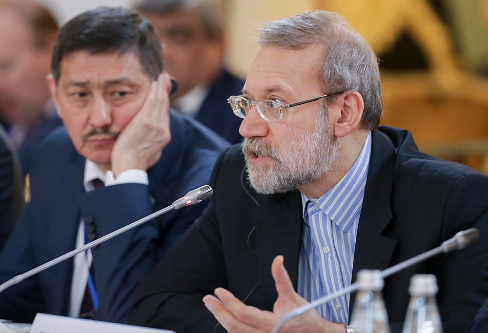 "Ali Larijani: ""Our countries are cooperating in the regulation of crises."""