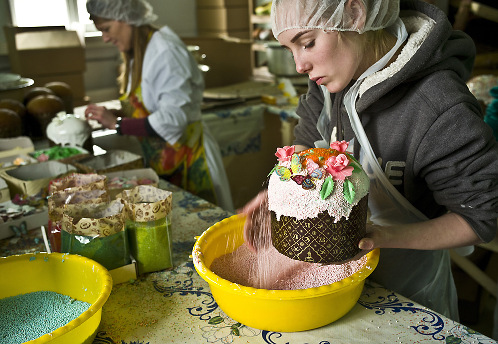 Easter cakes made at Serpukhovsky Convent