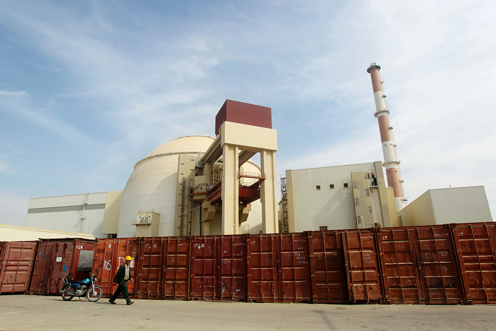 The Bushehr nuclear power plant, 746 miles south of Tehran.