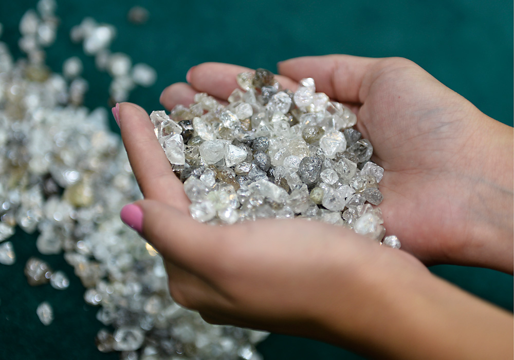 India is interested in Russian experience in extracting diamonds. Source: Yuri Smityuk/TASS
