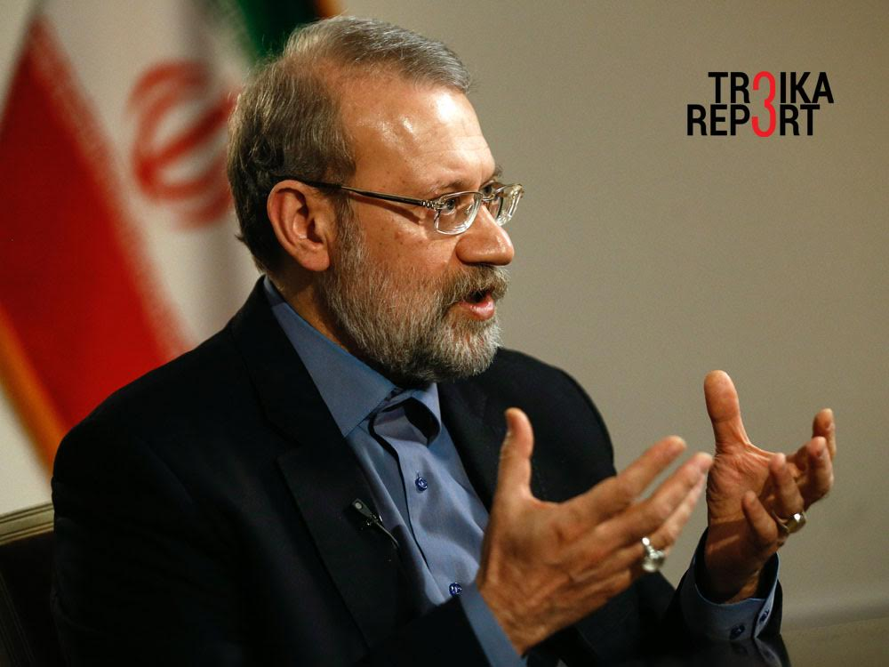 Ali Larijani, the speaker of the Majlis (Parliament) of Iran.