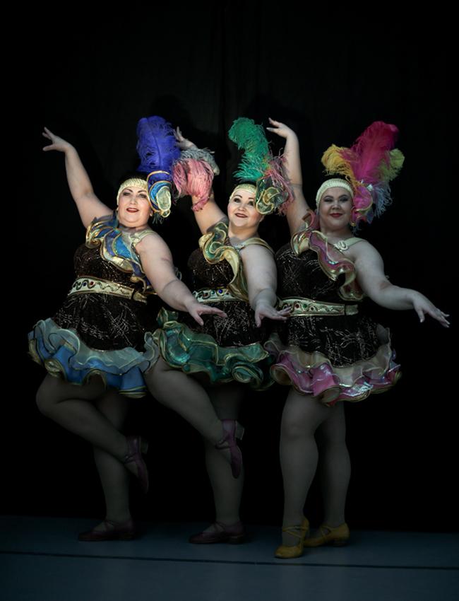 La preparazione di queste ballerine non ha nulla da invidiare alla preparazione di molte altre danzatrici