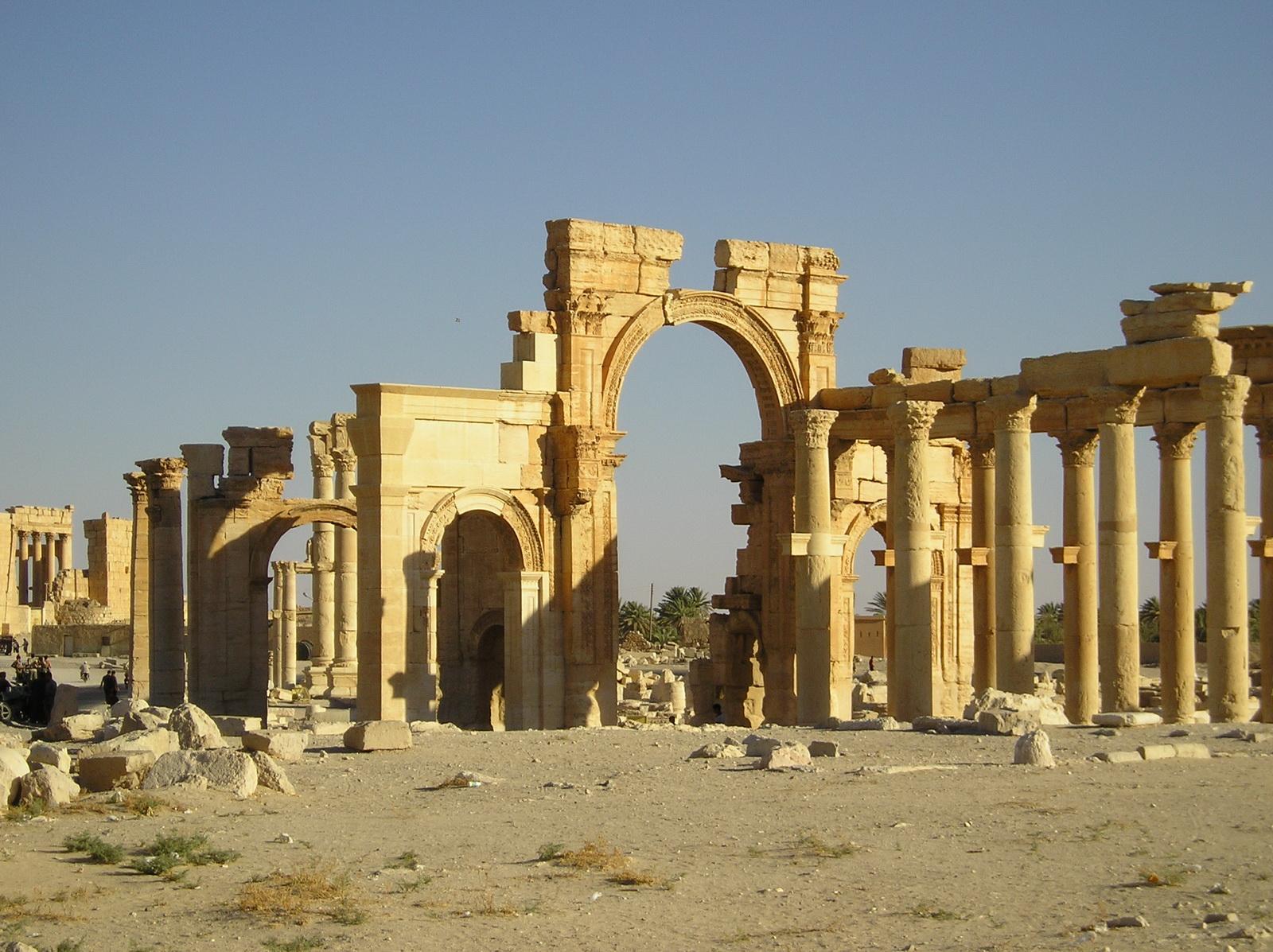 Uno scorcio del centro storico di Palmira.