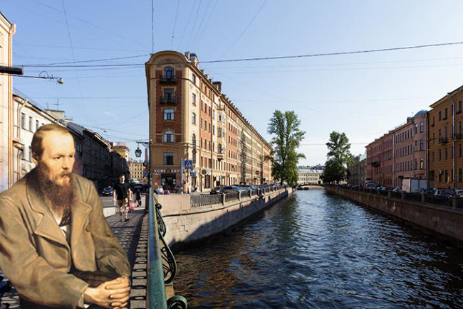 Walking the streets of St. Petersburg with Fyodor Dostoevsky