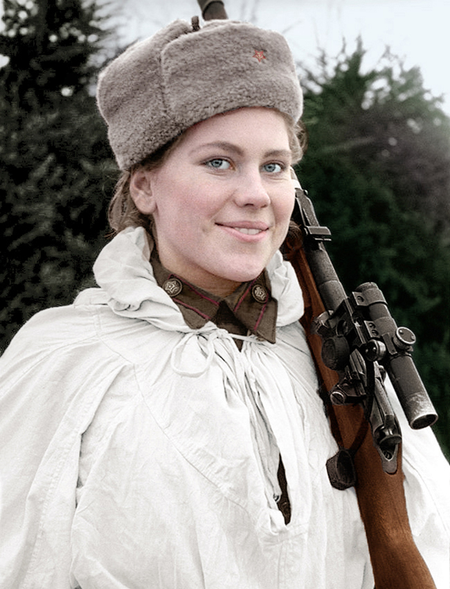 Roza Shanina (1924 – 1945), a Soviet sniper during World War II.