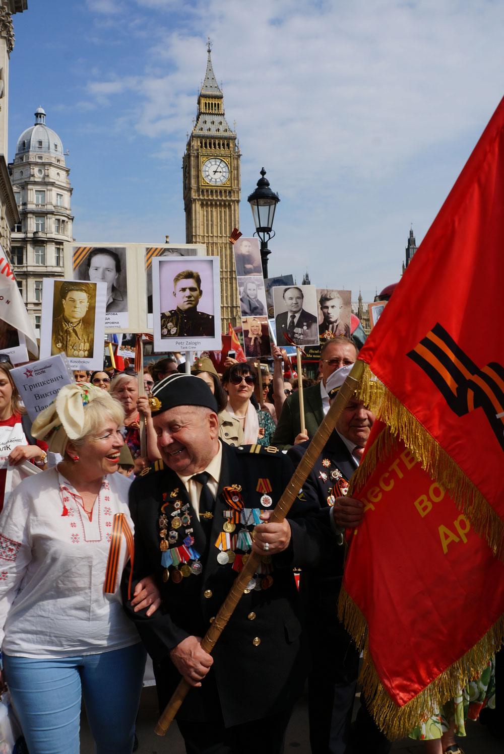 The Immortal Regiment procession in London, 2016. / Photo: Yelena Bozhkova