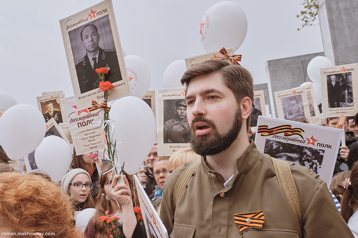 New York: May 8, 2016. Over 600 people, descendants of Soviet and American soldiers who fought in different detachments around the world against the Axis powers in World War II, took part in the Immortal Regiment march in New York.