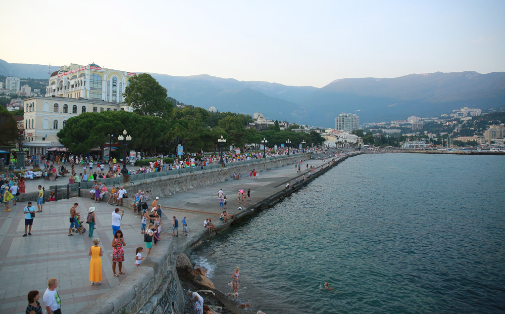 The city of Yalta, Crimea, March 2016.