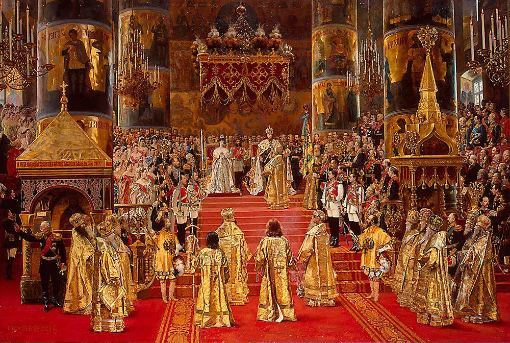 Coronation of Empreror Alexander III and Empress Maria Fyodorovna.