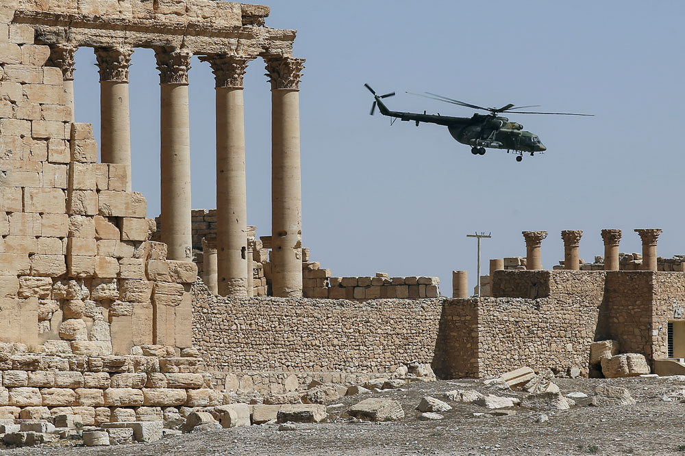 Palmyra was liberated from ISIS by the Syrian government army on March 27.