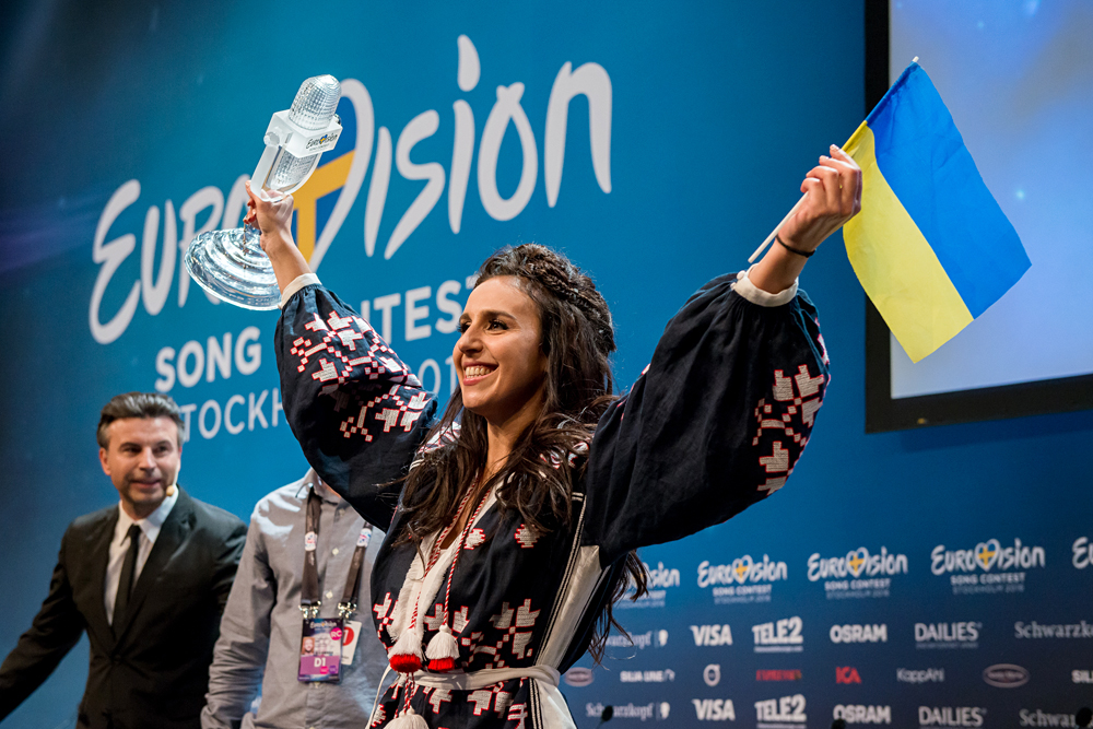 The number of regular viewers of the Eurovision Song Contest is 19 percent. Photo: Ukraine's Jamala celebrates as she wins the Eurovision Song Contest in Stockholm, Sweden.