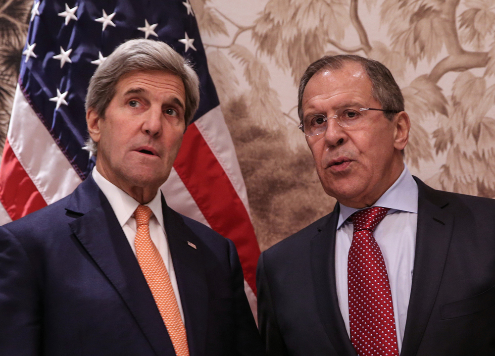 Russian Foreign Minister Sergei Lavrov and U.S. Secretary of State John Kerry.