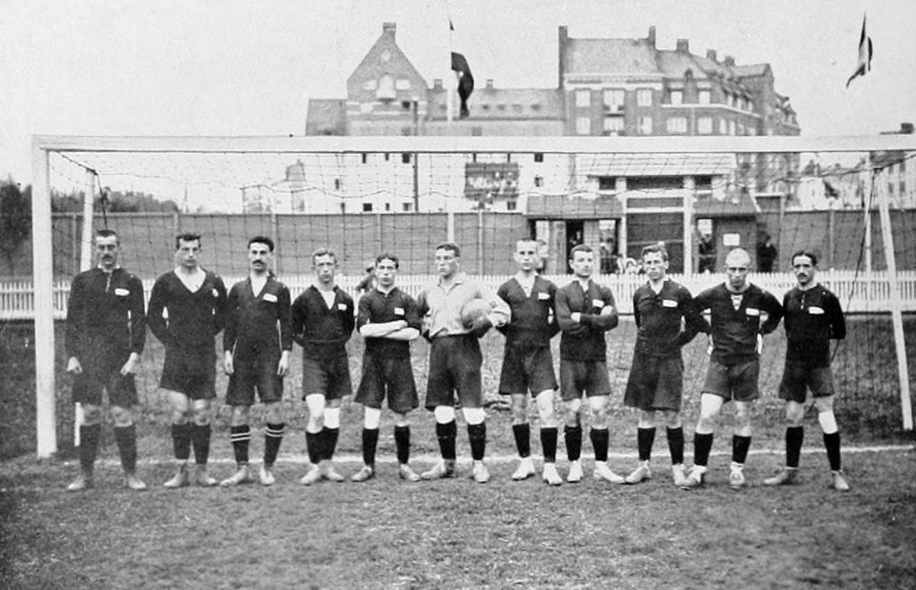 The Russia national football team at the 1912 Summer Olympics.