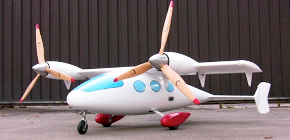 Prva verzija prihodnjih letečih taksijev SerVert CB5B. Vir: Press photo