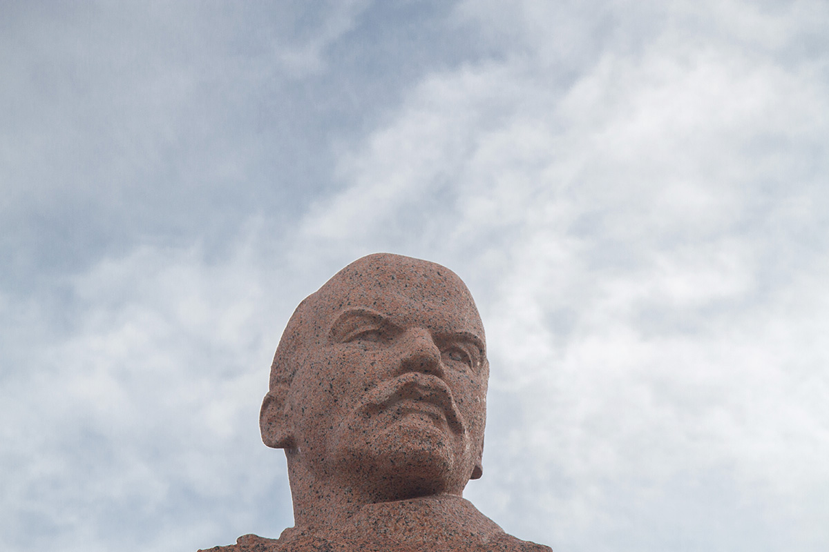 Officially, this monument is the northernmost statue of the leader of the Bolshevik revolution.