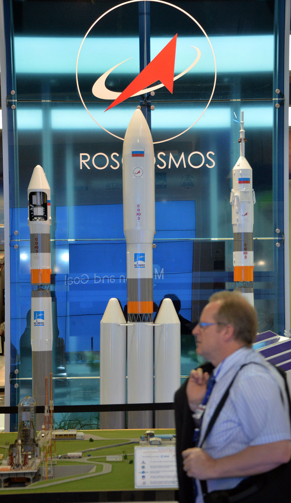The showcase of the Federal Space Agency at Farnborough International Airshow