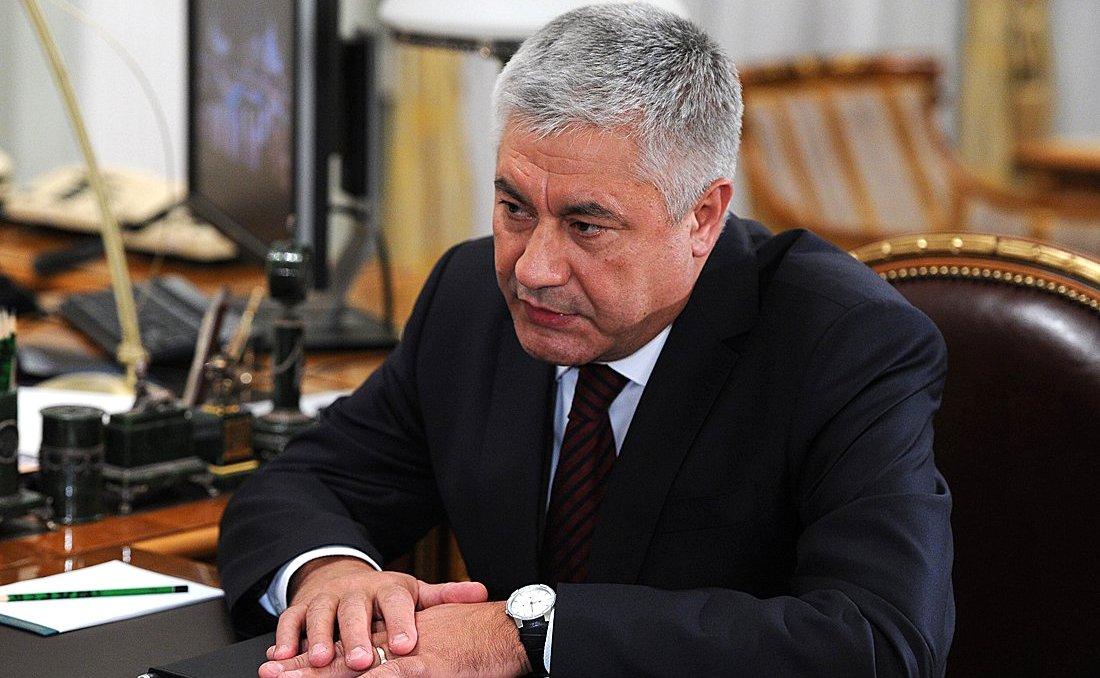 Russian Minister of Internal Affairs Vladimir Kolokoltsev.