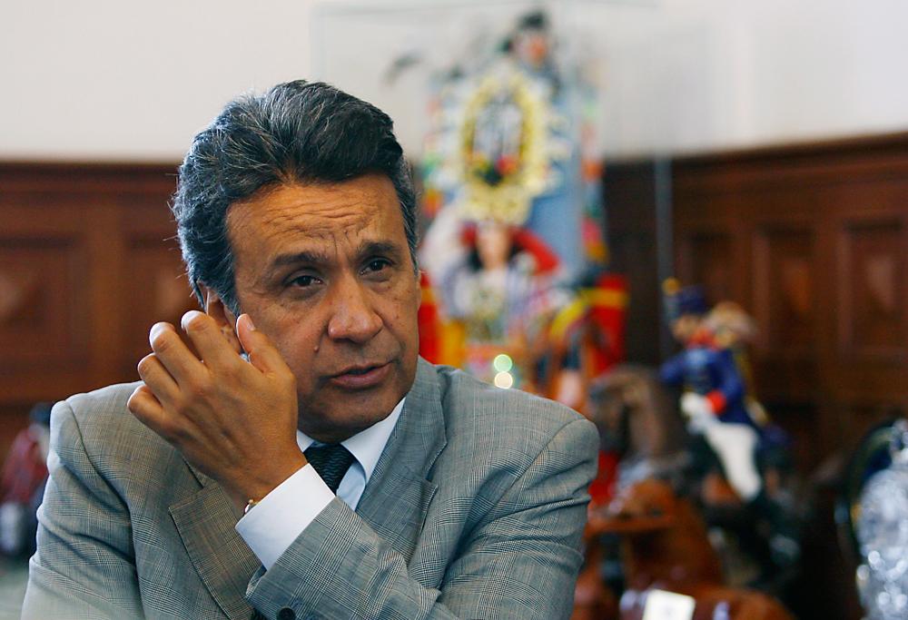 Le vice-présudent d'Equateur Lenin Moreno lors d'un entretien à Quito, le 6 août 2009. Crédit : Reuters