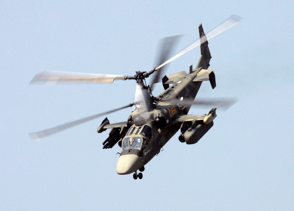 Visitors will have a chance to learn the basics of flying the Alligator Ka-52 combat helicopter.