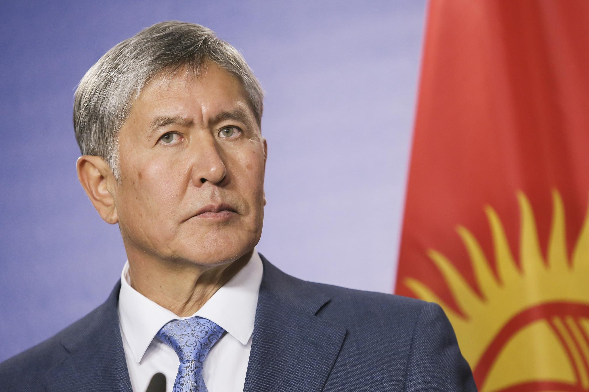 Kyrgyzstan President Almazbek Atambayev.