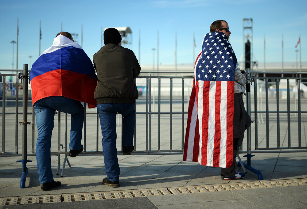 "The U.S. topped the list  of the ""Russia's enemies,"" according to the Levada Center survey."